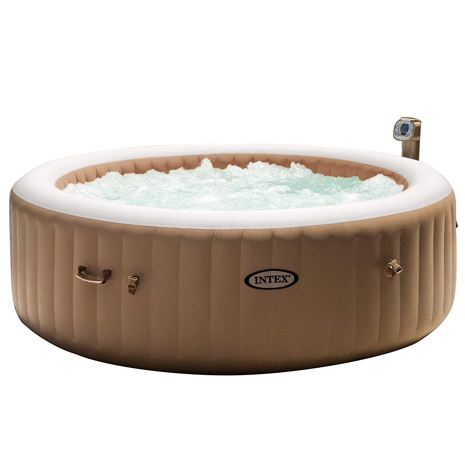 Intex 85in PureSpa Portable Plug and Play Hot Tub Bubble Massage Spa Set