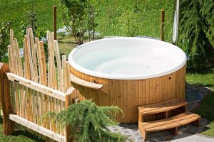 Plug and play hot tubs
