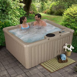Essential Hot Tubs SS125210300 Newport-14 Jet Hot Tub, Cobblestone